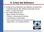 5 crisis del software