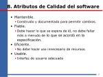 8 atributos de calidad del software