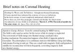 brief notes on coronal heating