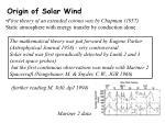 origin of solar wind