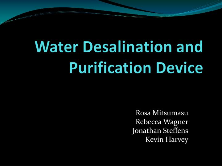water desalination and purification device n.