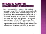 integrated marketing communication introduction