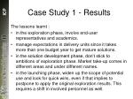case study 1 results