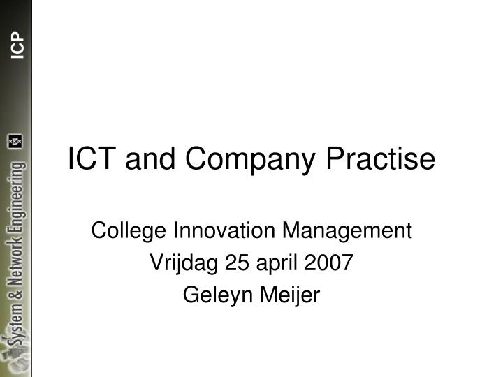 ict and company practise n.