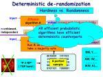 deterministic de randomization