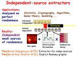 independent source extractors