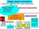 single source extractors1