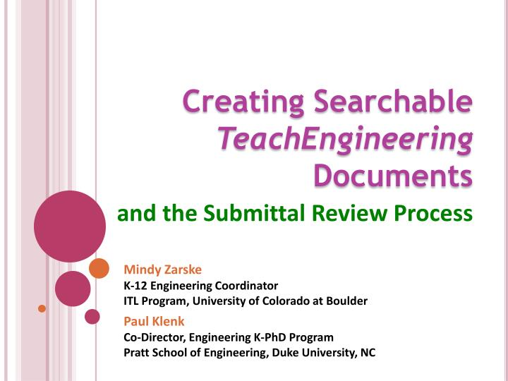 creating searchable teachengineering documents n.