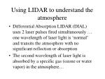using lidar to understand the atmosphere