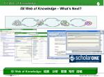 isi web of knowledge what s next