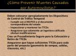 c mo prevenir muertes causadas por automovilistas