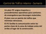 control de tr fico interno sumario1