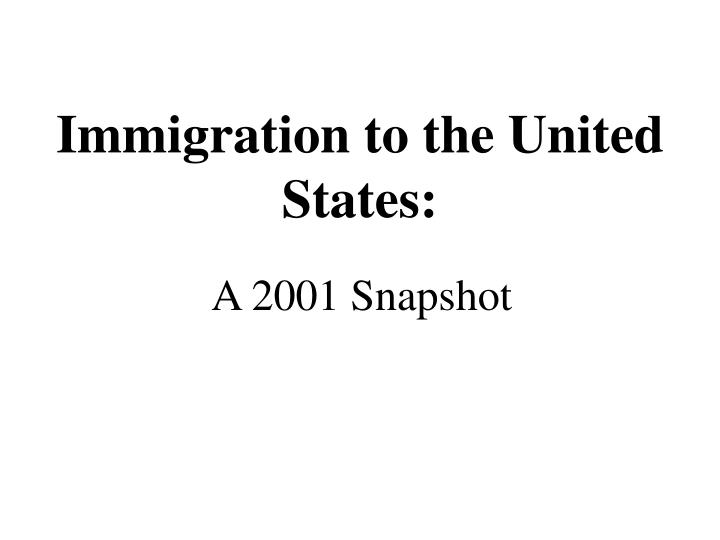 immigration to the united states n.