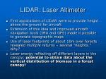 lidar laser altimeter
