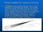 three models for remote sensing2