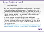 storage conditions cont 2