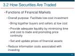 3 2 how securities are traded