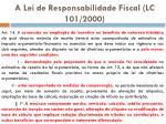 a lei de responsabilidade fiscal lc 101 2000