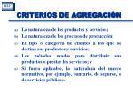 criterios de agregaci n