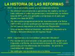 la historia de las reformas1