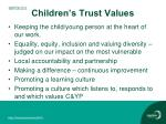 children s trust values