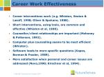 career work effectiveness