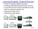 layering example federal express