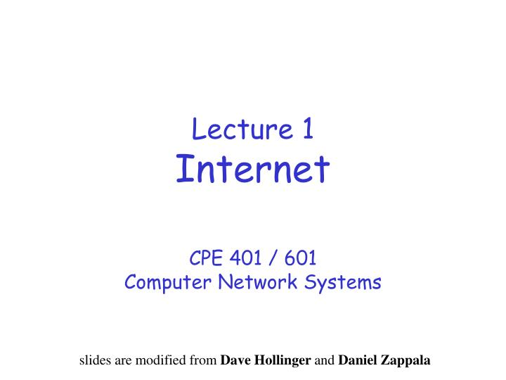 lecture 1 internet n.
