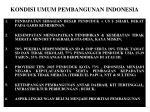 kondisi umum pembangunan indonesia