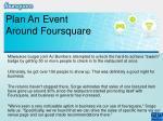 plan an event around foursquare