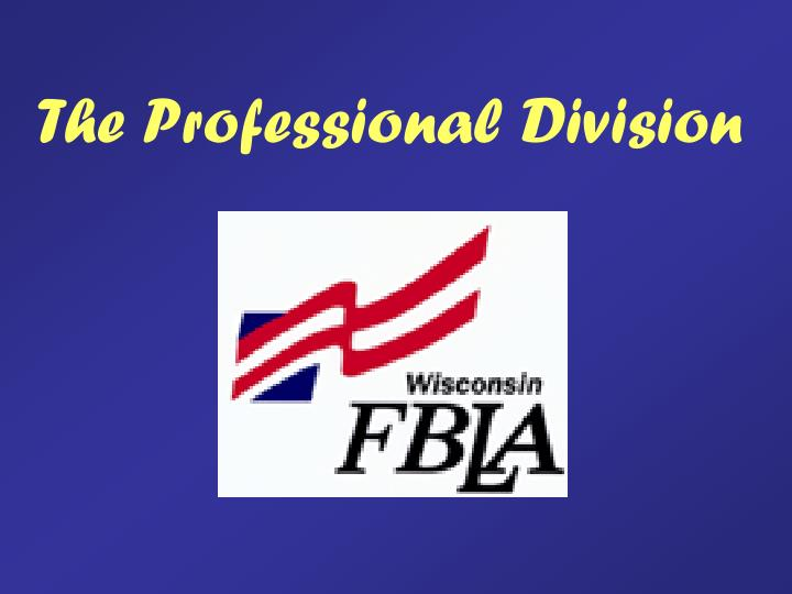 the professional division n.