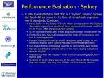 performance evaluation sydney