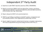 independent 3 rd party audit