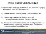 initial public communiqu
