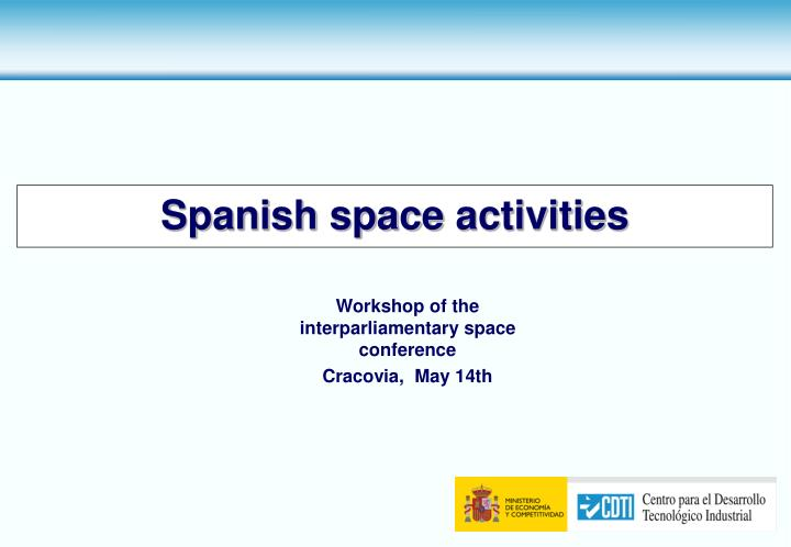 spanish space activities n.