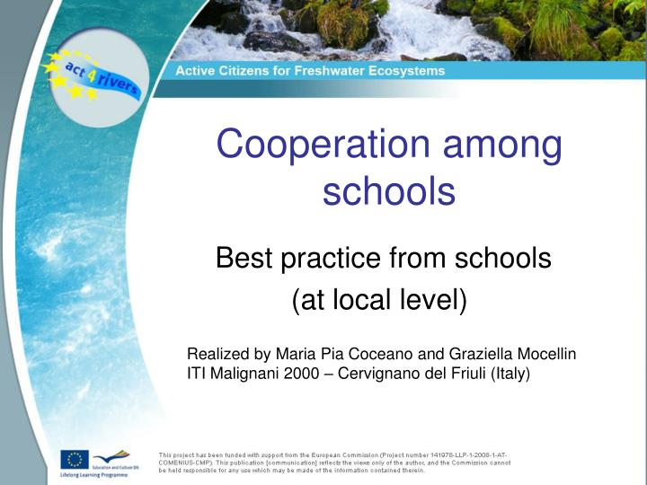 best practice from schools at local level n.