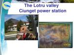 the lotru valley ciunget power station