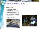 water workshops