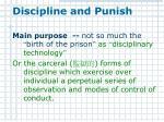discipline and punish