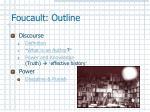foucault outline