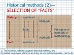historical methods 2 selection of facts