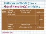 historical methods 3 grand narrative s or history