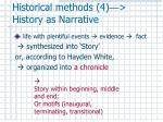 historical methods 4 history as narrative