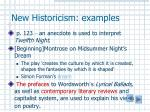 new historicism examples