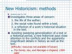 new historicism methods