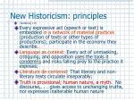 new historicism principles