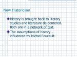 new historicism