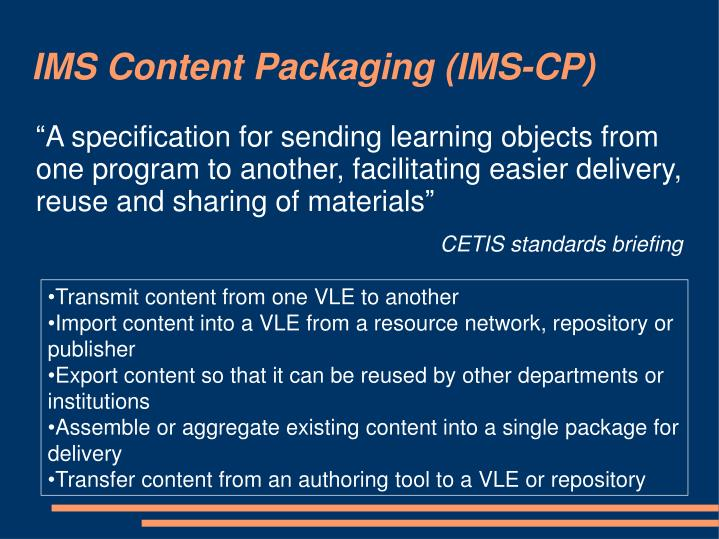 IMS Content Packaging (IMS-CP)