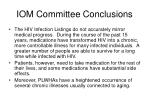 iom committee conclusions