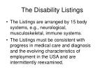 the disability listings